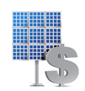 Solar panel and dollar sign illustration design Royalty Free Stock Photo
