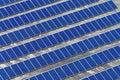 Solar panel farm Royalty Free Stock Photo