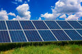 Solar panel in a field Stock Photography