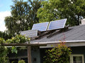 Solar panel for green environmentally friendly energy modern design small Royalty Free Stock Image