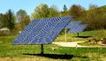 Solar panel panels in nature in united states Royalty Free Stock Photo