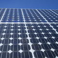 Solar panel photovoltaic cells square Royalty Free Stock Photo