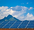 Solar panel photovoltaic energy Royalty Free Stock Images