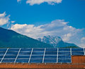 Solar panel photovoltaic energy Stock Photo