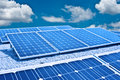 Solar panel and Photovoltaic. The future's energy Royalty Free Stock Photo