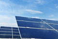 Solar panel renewable energy field Royalty Free Stock Photography