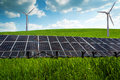 Solar panel and renewable energy power plant using with sun Stock Image