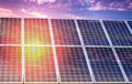 Solar panel and renewable energy power plant using with sun Royalty Free Stock Photo