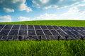 Solar panel and renewable energy power plant using with sun Stock Photography