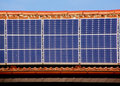 Solar panel on roof Royalty Free Stock Photo