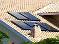Solar panel on the roof Royalty Free Stock Photo