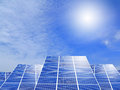Solar panel system Stock Images