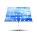 Solar panel on white vector illustration isolated Royalty Free Stock Image