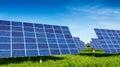 Solar panels beautiful fabulous landscapes Stock Photos