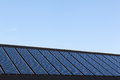 Solar panels on family houses close up of producing alternative energy Royalty Free Stock Photo