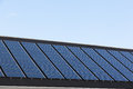 Solar panels on family houses close up of producing alternative energy Royalty Free Stock Image