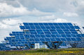 Solar Panels - Clean Green Renewable Energy Royalty Free Stock Photo