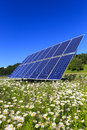 Solar Panels In The Green Royalty Free Stock Photo