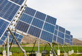 Solar panels group of creating electricity from the sun Stock Photo