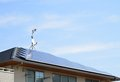 Solar Panels Installed On The Roof Stock Photography