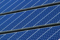 Solar Panels Lines Stock Photo