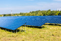 Solar panels natural resources and environment Stock Photography