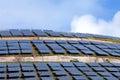 Solar panels park on the Portuguese island Madeira Royalty Free Stock Photo
