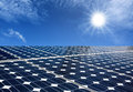 Solar panels produce energy from the sun Royalty Free Stock Photo