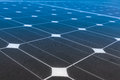 Solar panels produce power green energy concept Royalty Free Stock Images