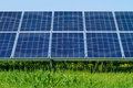 Solar panels produces green environmentally friendly energy from the sun Stock Images