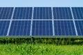 Solar panels produces green Royalty Free Stock Photo