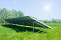 Solar panels produces green environmentally friendly energy from the sun Royalty Free Stock Images