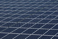 Solar panels producing clean and sustainable electricity Stock Photography