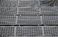 Solar panels rectangular on a roof top Stock Images