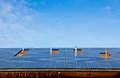 Solar panels on the roof of building Royalty Free Stock Photo
