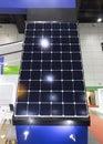 Solar panels Show in an Exhibition;solar energy;eco-friendly tec Royalty Free Stock Photo