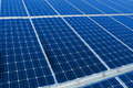 Solar panels textured in line Royalty Free Stock Photo