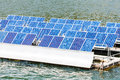 Solar panels on the water Royalty Free Stock Photo
