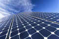Solar photovoltaic cells Royalty Free Stock Photo