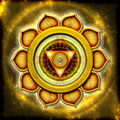 The solar plexus chakra illustration of Stock Photography