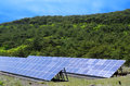 Solar power and forest Stock Photography