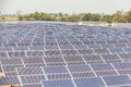 Solar power plant under construction in thailand Stock Image
