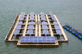 Solar power plant in the water Royalty Free Stock Photos