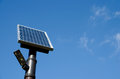 Solar power street light Royalty Free Stock Photo