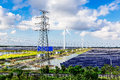 Solar power and wind power Royalty Free Stock Photo