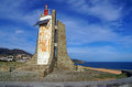 The solar powered lighthouse of Cap Cerbere Royalty Free Stock Images
