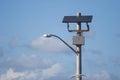 Solar powered street lamp Royalty Free Stock Photo