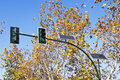 Solar powered traffic lights Royalty Free Stock Photography