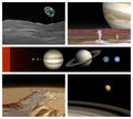 Solar system different landscape in Royalty Free Stock Photo