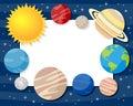 Solar System Planets Horizontal Frame